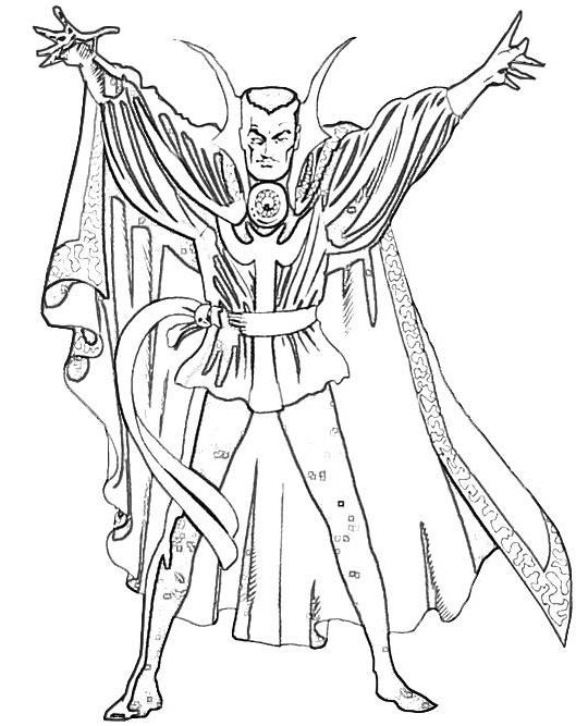 Doctor Strange Witch Coloring Page