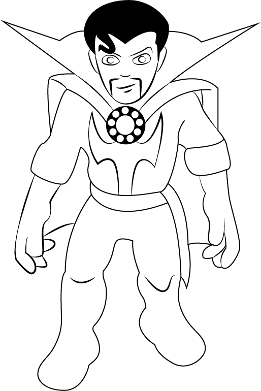 Dr. Strange – The Super Hero Squad Show Coloring Page