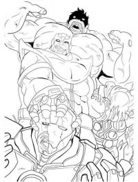 Marvel Thanos kills the monsters Coloring Page