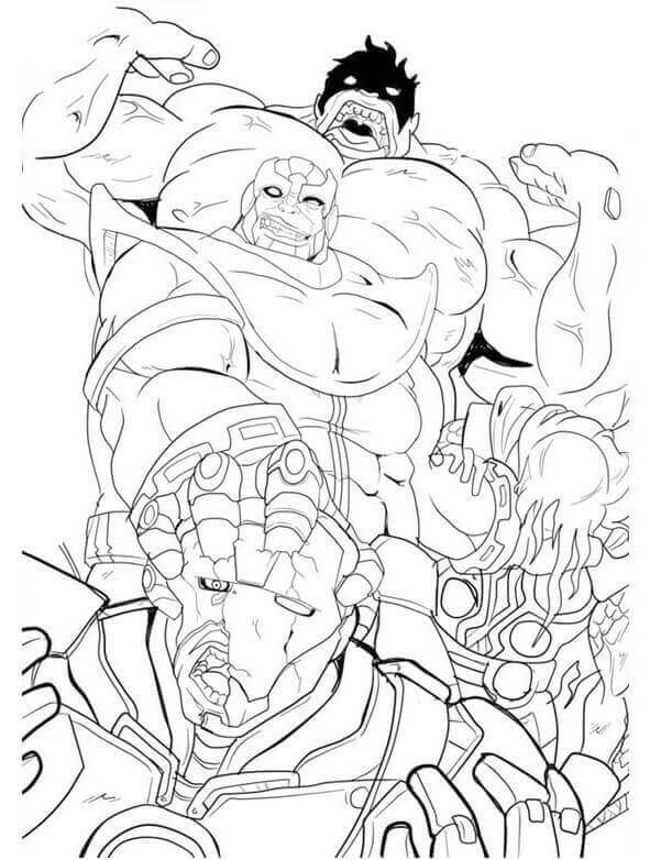 Marvel Thanos kills the monsters Coloring Pages