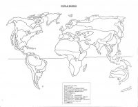 The Biomes of the world map Coloring Page