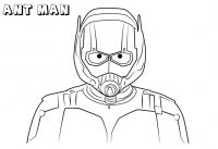 Portrait of Scott Lang in Ant-man form in Ant-man Movie Coloring Page