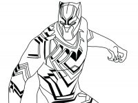 Beautiful Marvel Black Panther armor detailed Coloring Page