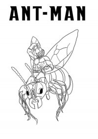 Ant-man Coloring Page