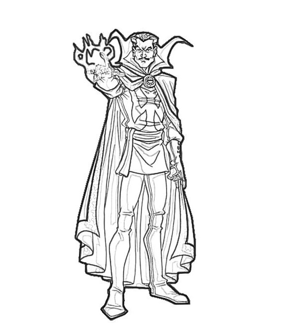 Doctor Strange learns how to do magic with his hands Coloring Pages