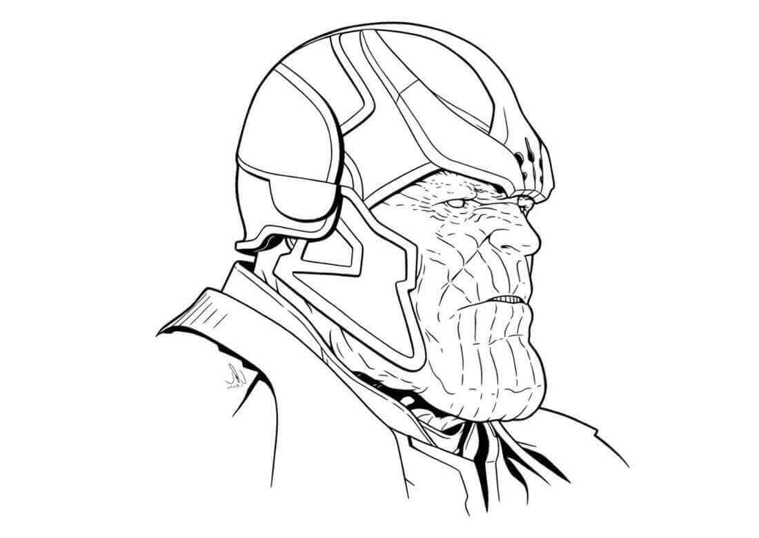 Mad Thanos from Avengers Infinity War Coloring Pages