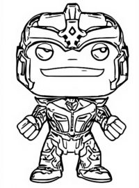 Chibi Thanos warrior from Infinity War Coloring Page