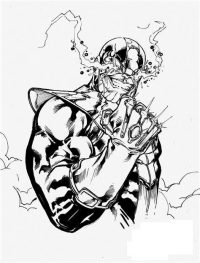 Thanos from the Avengers Infinity War crying Coloring Page