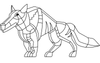 Abtract wolf art idea Coloring Page
