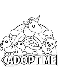 Adopt me Coloring Page