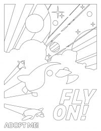Adopt me Fly on the moment on poster Coloring Page