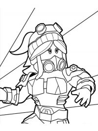 Applecake Woman wears warrior armor in Roblox Coloring Page