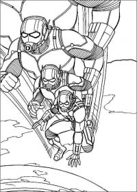 Ant-man shrinks himself to the size of an insect Coloring Page