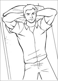Scott Lang thinks all night in the Ant-man movie Coloring Page
