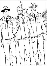 Scott Lang was arrested by polices in Ant-man movie Coloring Page
