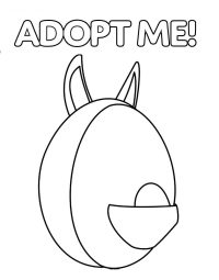 Adopt me Aussie egg from the Gumball Machine Coloring Page