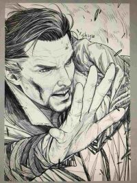 Doctor Strange tries to control his magic Coloring Page