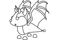 Bat dragon from Halloween event in Adopt me Coloring Page