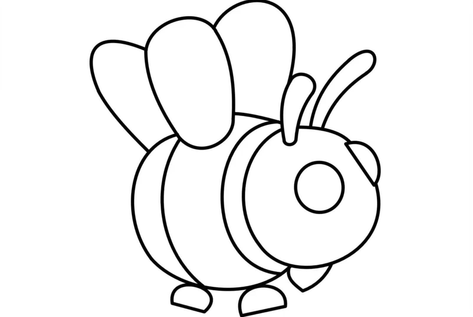 An ultra-rare pet Bee in Adopt me Coloring Pages