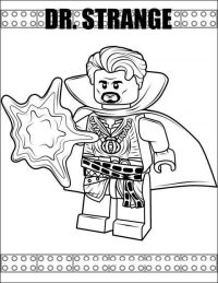 Lego Doctor Strange from the Avengers Coloring Page