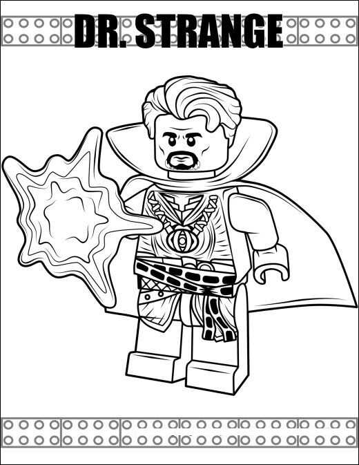 Lego Doctor Strange from the Avengers Coloring Pages