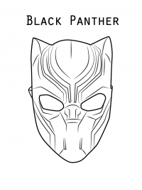 Simple Mask of Black Panther from Avengers Coloring Page