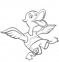 Funny Cartoon duck Coloring Page