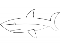 Cute cartoon shark for toddlers Coloring Page