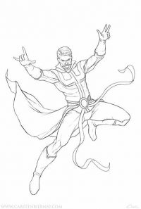 Dr.Strange jumps out of the ground from Doctor Strange movie Coloring Page