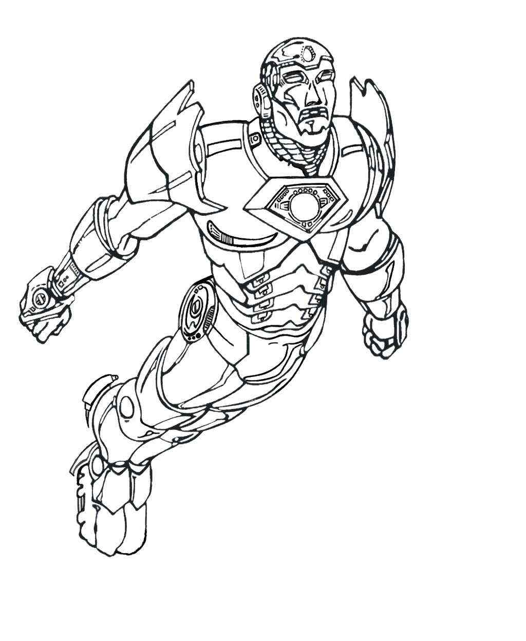 Iron man fly up to the sky Coloring Pages   Avengers Coloring ...