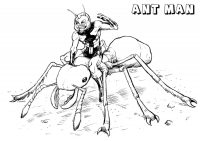 Scott Lang Controls The Ant Details In Ant-man Movie Coloring Page