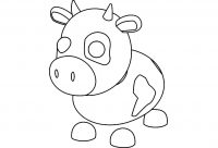 Cow can be hatched from the Farm Egg in Adopt me Coloring Page