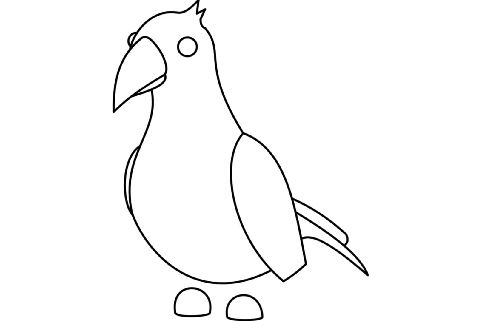 Legendary pet Crow from Farm Egg in Adopt me Coloring Pages