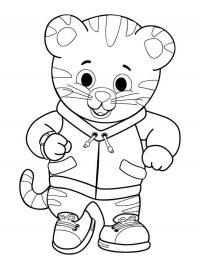 Cute Daniel tiger wears sporty suit Coloring Page