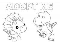 Cute Dinosaurs from Adopt me Coloring Page