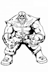Fanart Anime Thanos from the Avengers Coloring Page