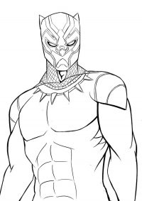 Cool Black Panther from Black Panther movie Coloring Page