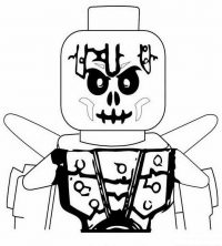 The warrior Frakjaw in the Skulkin army from Lego Ninjago Coloring Page