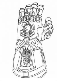 Detailed Infinity Gauntlet of Thanos fromAvengers Endgame Coloring Page