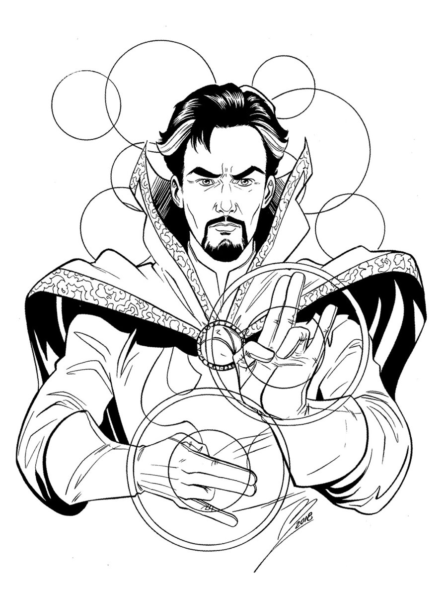 Dr Strange Hand Some Coloring Pages