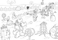 Drawing Scene of PvZ  Coloring Page