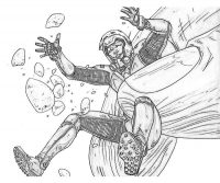 Ant man is catched during the attack in Ant-man movie Coloring Page