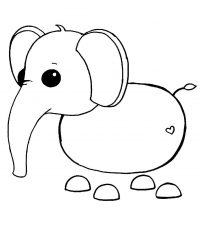 Rideable Elephant from Adopt me Coloring Page