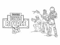 Space Exploration with multiple Astronauts from Fortnite Coloring Page
