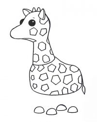 The Giraffe has a long neck with pattern of spots all over its body Coloring Page