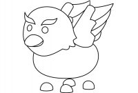 The legendary bird named Griffin in Pet Shop from Adopt me Coloring Page