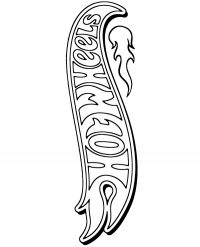 Hot Wheels Logo in vertical Coloring Page