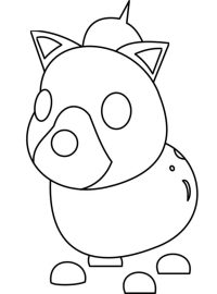 The Hyena from Adopt me has a gap between the nose and the muzzle Coloring Page