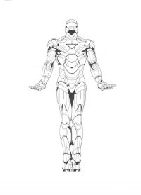 Cute Iron man dances in ballet Coloring Page