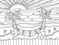 Relaxed in the sunset Coloring Page